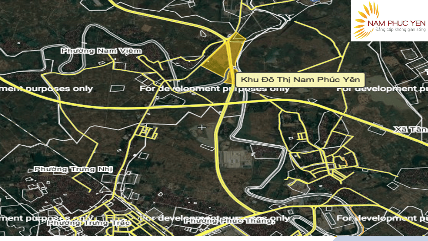 Vị trí khu đô thị Nam Phúc Yên