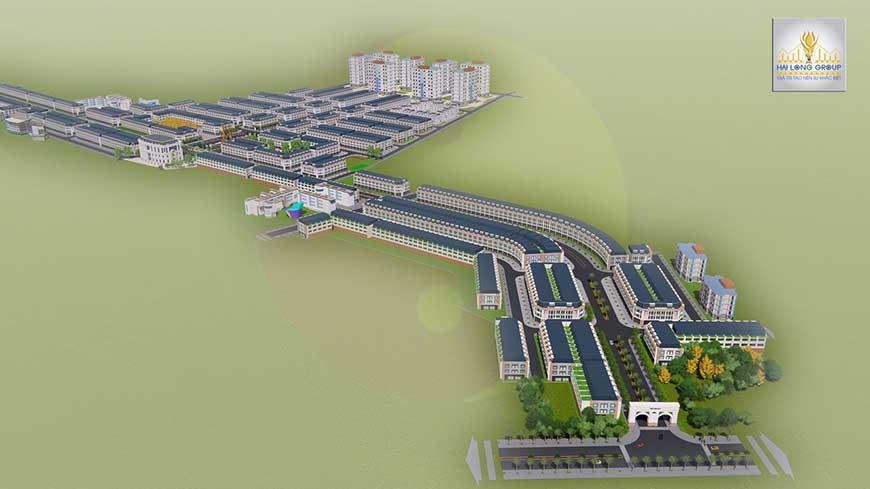 Dự án nằm trên trục đại lộ Vàng 27m