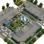 Mặt bằng tiện ích sân vườn tại dự án MHD Trung Văn