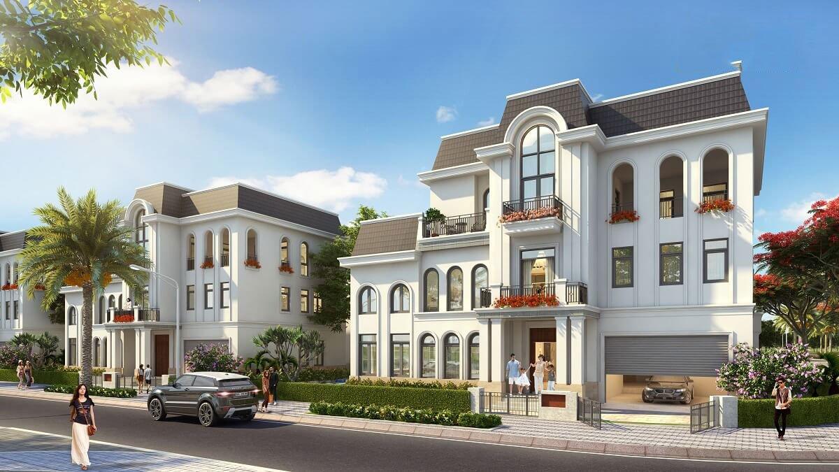 Phối cảnh biệt thự đơn lập Crown Villas
