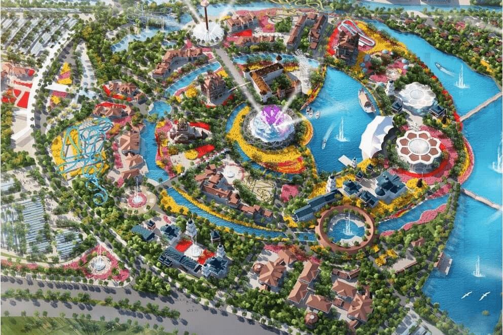 Bản đồ quy hoạch của dự án Công viên Văn hóa du lịch vui chơi giải trí Kim Quy