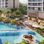 Phối cảnh bể bơi hiện đại tại Lavita Linh Đàm