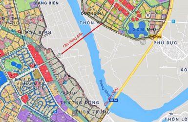 Bản đồ quy hoạch cầu Giang Biên
