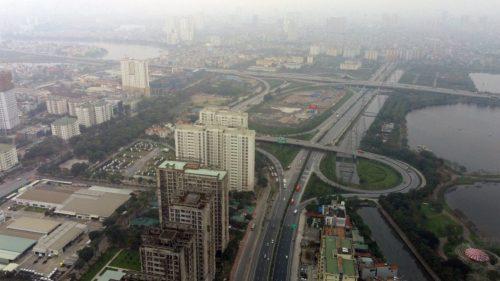 Toàn cảnh dự án cầu Ngọc Hồi bắc qua sông Hồng