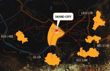 Danko City rất thuận tiện di chuyển qua các tỉnh xung quanh
