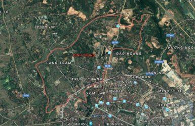 Bản đồ khu vực xã Định Trung, TP Vĩnh Yên