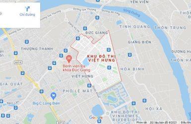 Địa chỉ Khu đô thị Việt Hưng trên Google Map