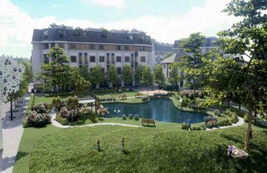 Công viên và hồ ngay trong dự án